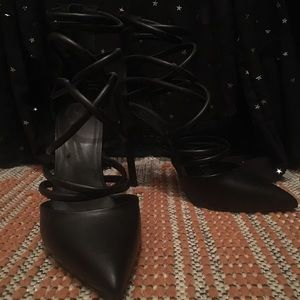 Pointed toe strappy Nasty Gal heels